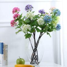 1 Zweig Kuenstliche Hortensie & 3 Stuecke Blueten