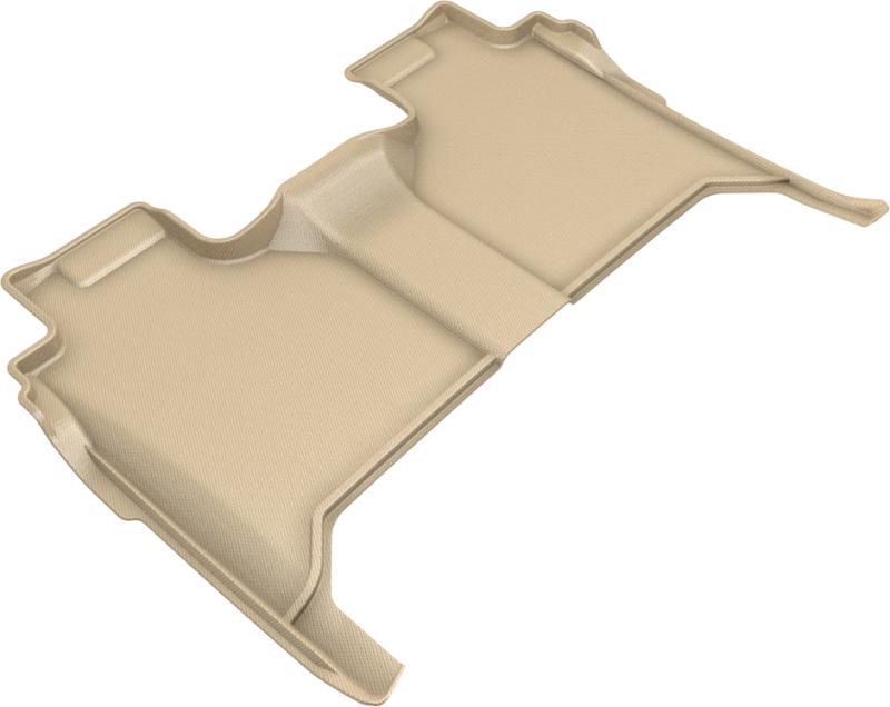 3D MAXpider 2019-2020 GMC/Chevrolet Sierra 1500/Silverado 1500 Kagu 2nd Row Floormats - Tan