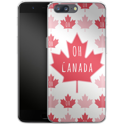 OnePlus 5 Silikon Handyhuelle - Oh Canada von caseable Designs