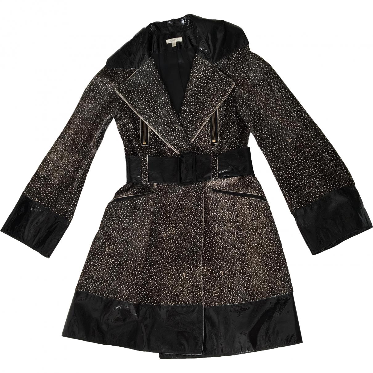 Paule Ka - Manteau   pour femme en cuir - ecru