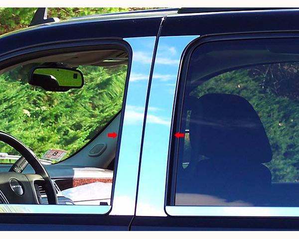 Quality Automotive Accessories 4-Piece Pillar Post Trim Kit GMC Yukon | XL 2011