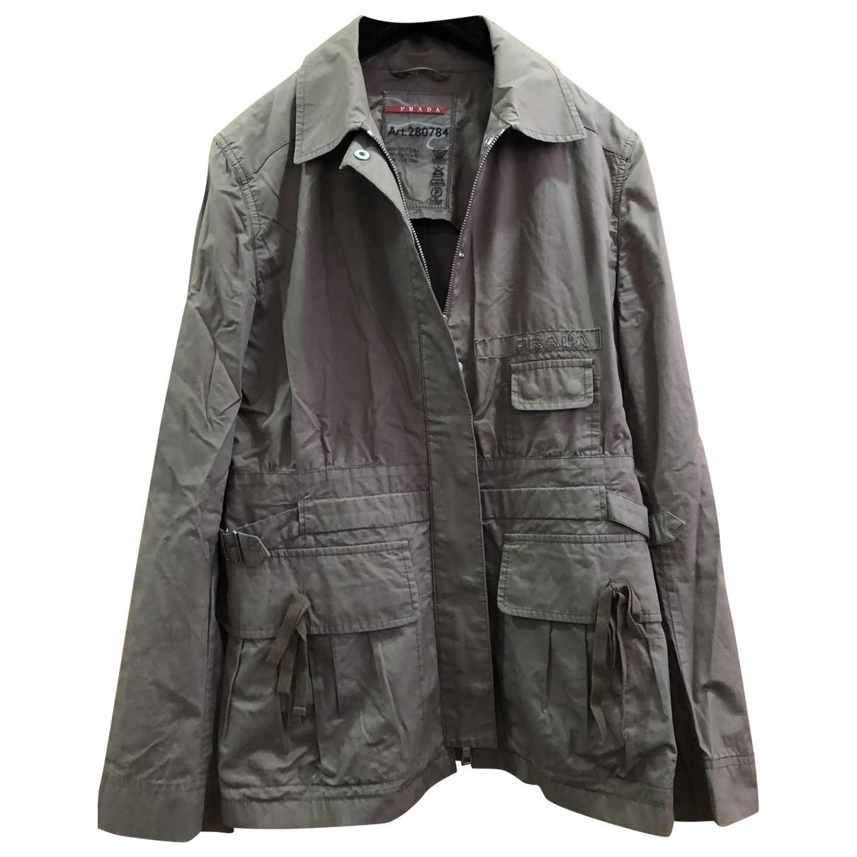 Prada \N Khaki Cotton coat for Women 42 IT