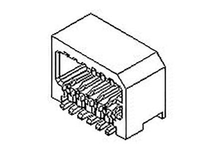 Molex , 53309, 14 Way, 2 Row, Right Angle PCB Header (250)