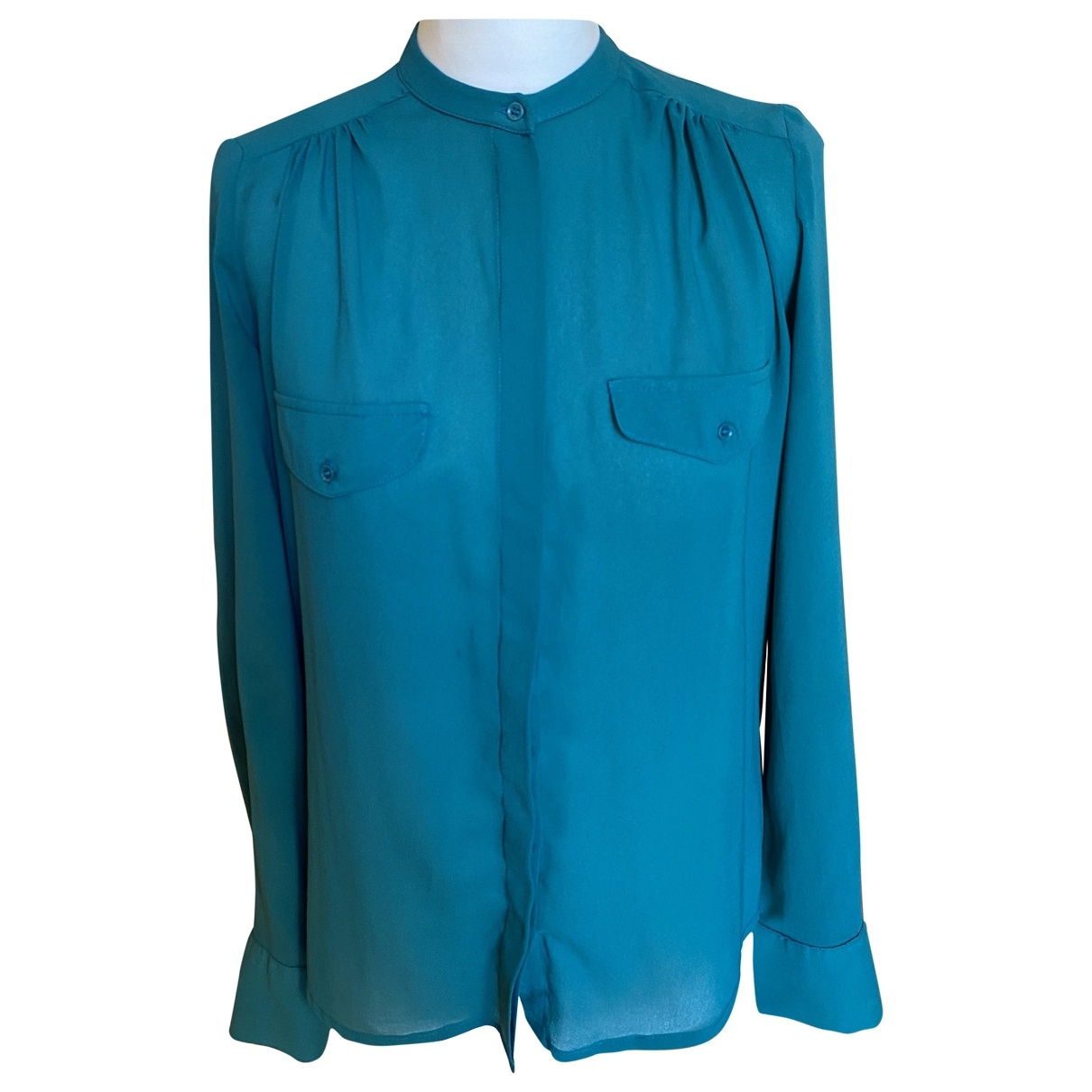 Non Signe / Unsigned \N Top in  Gruen Polyester