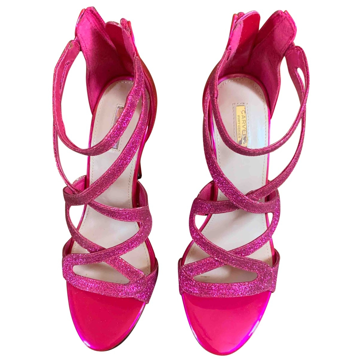 Non Signé / Unsigned \N Pink Patent leather Sandals for Women 38 EU