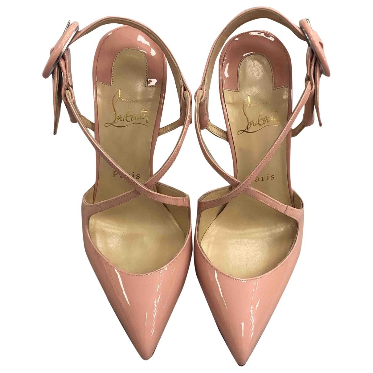 Christian Louboutin \N Pink Patent leather Heels for Women 37 EU