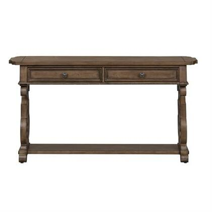 Parisian Marketplace Collection 598-OT1030 Sofa Table with Decorative Scrolled Pedestal  Center Trestle & Scalloped   Shaped Tops and Bun Feet in