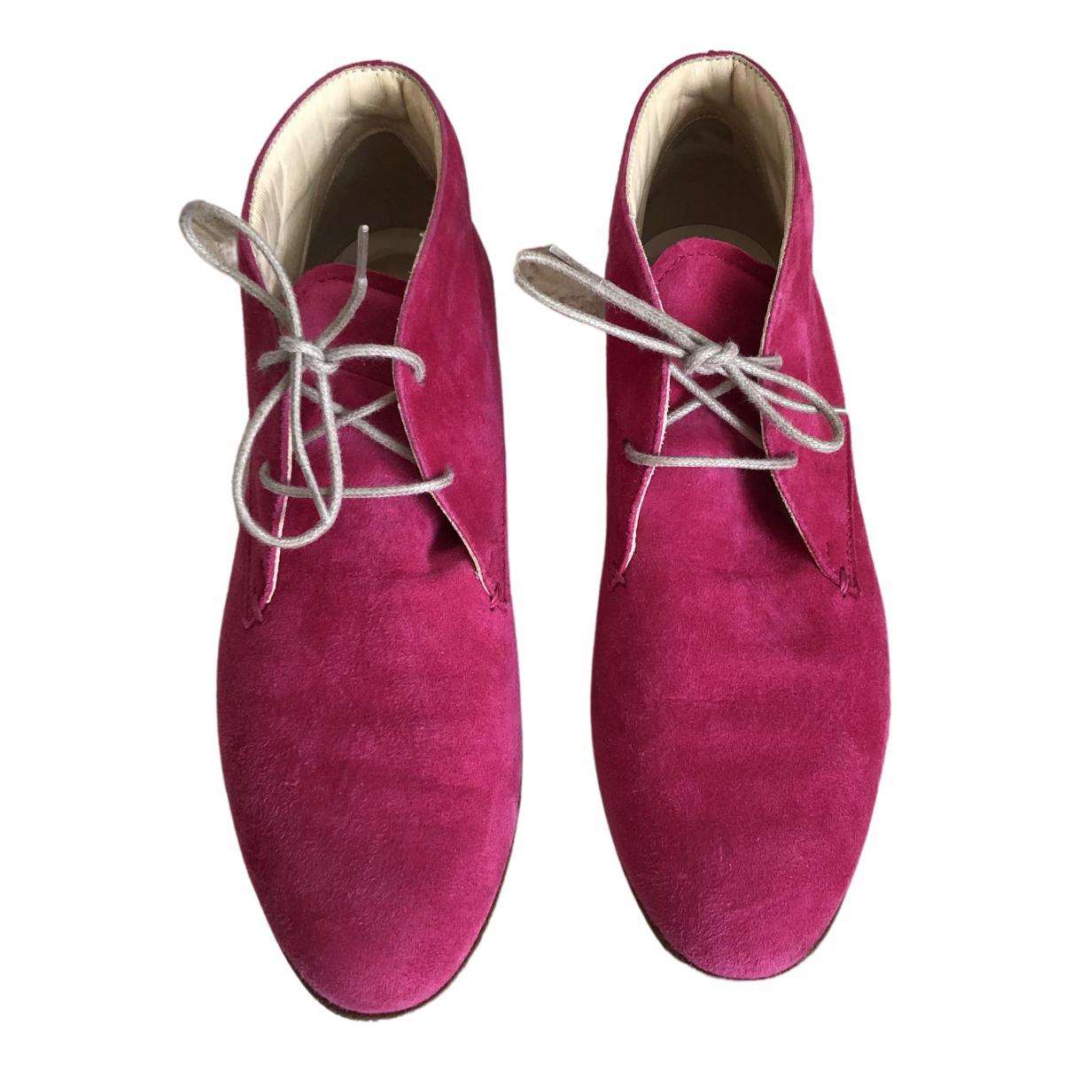 Tod's - Boots   pour femme en suede - rose