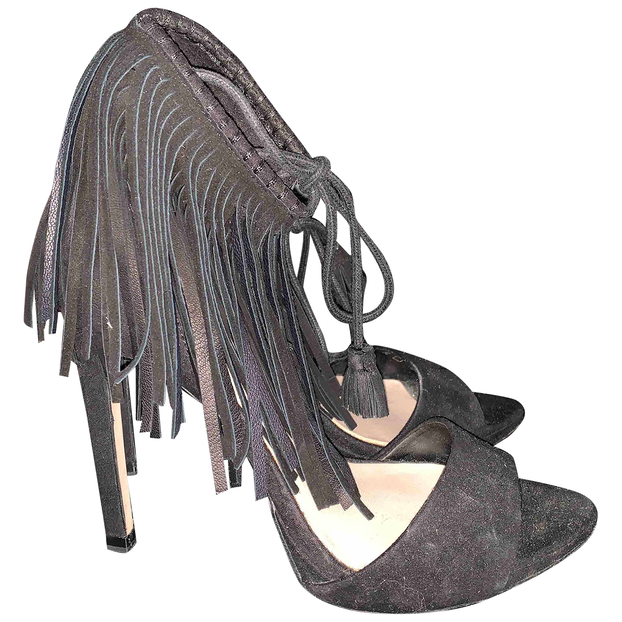 Zara - Escarpins   pour femme en suede - noir