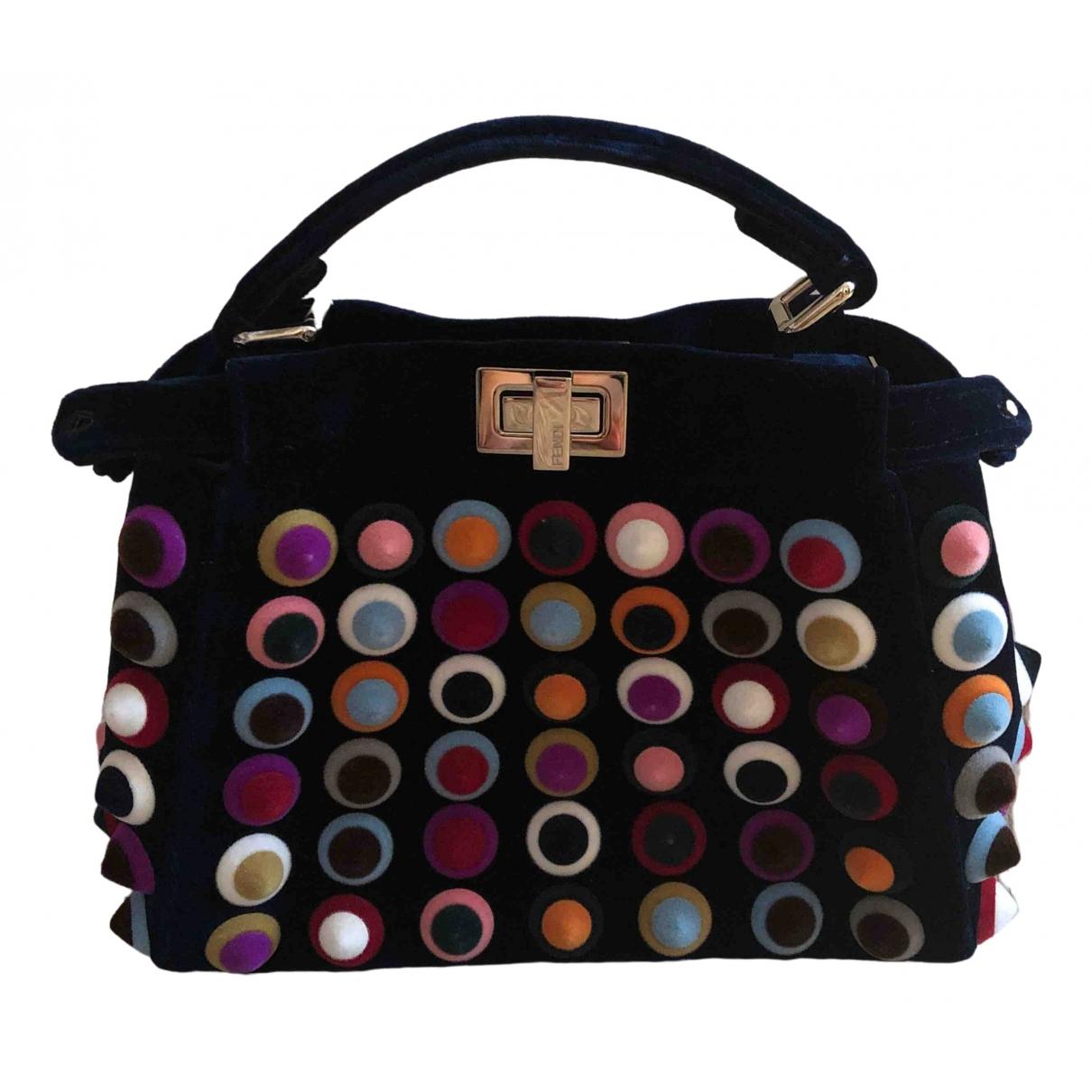 Fendi Peekaboo Handtasche in  Bunt Samt