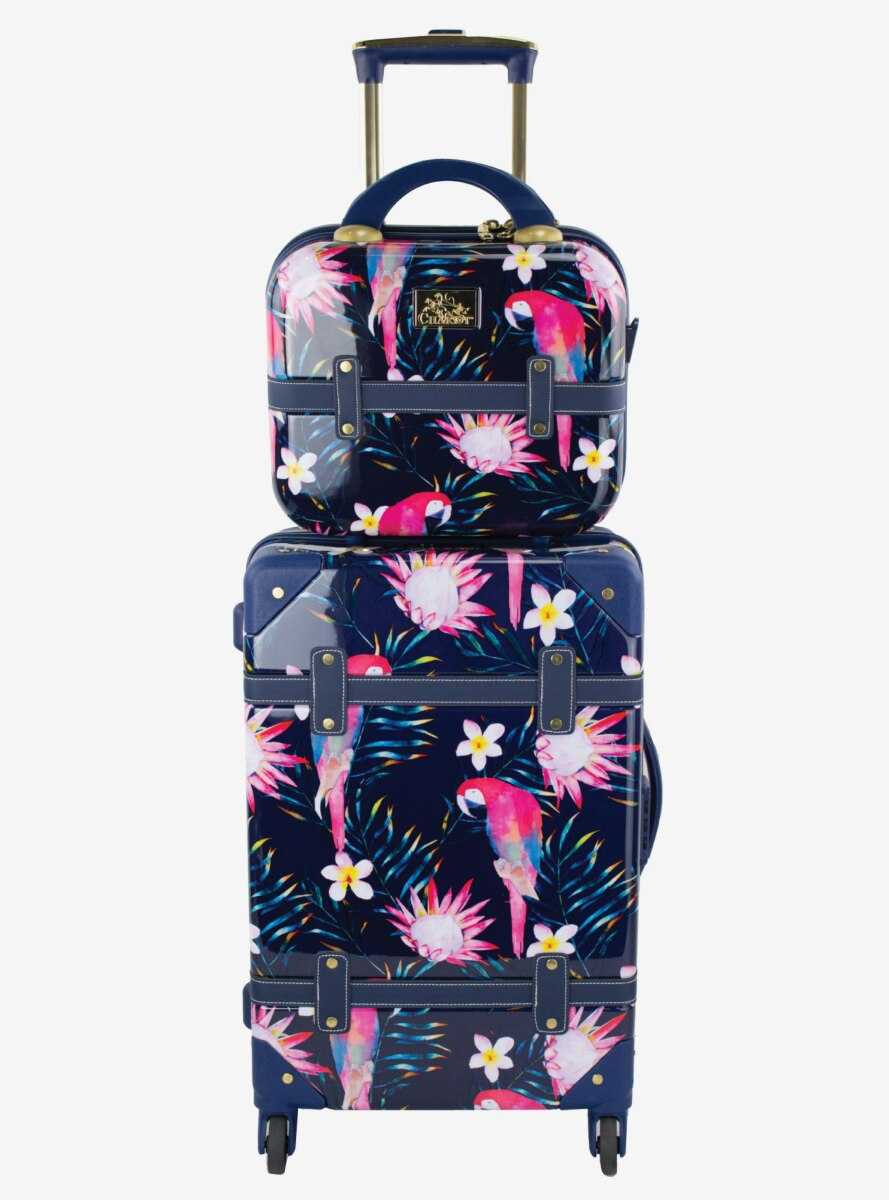 Parrot Carry On And Beauty Case Set