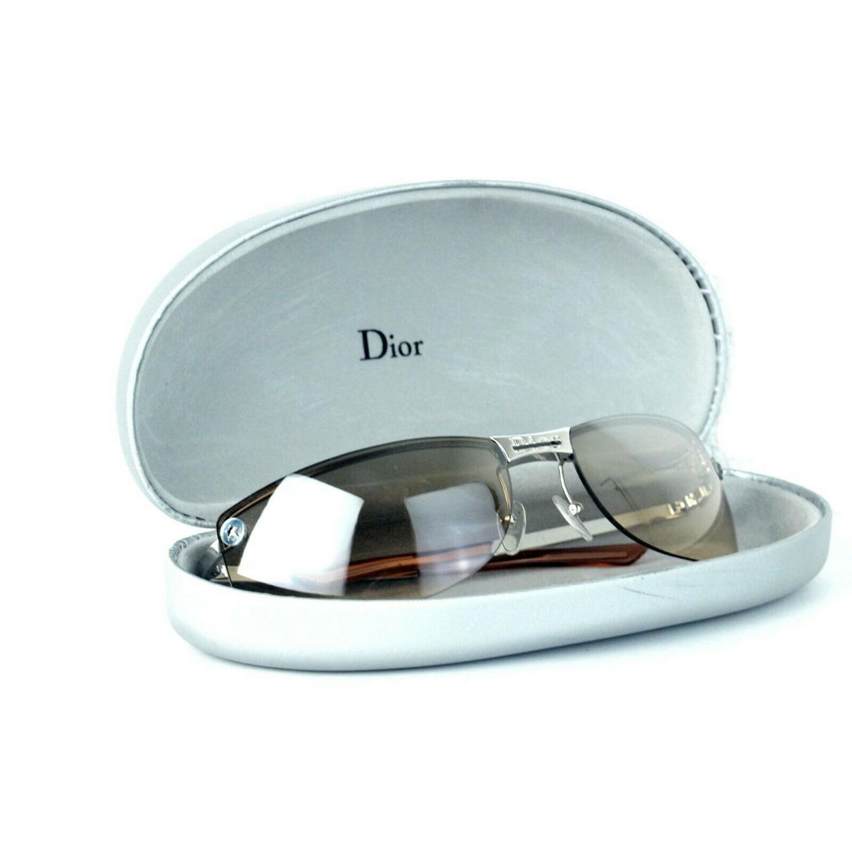 Christian Dior - Lunettes   pour femme en metal - marron
