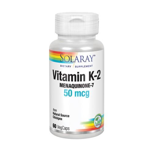 Vitamin K-2 Menaquinone-7 60 Veg Caps by Solaray