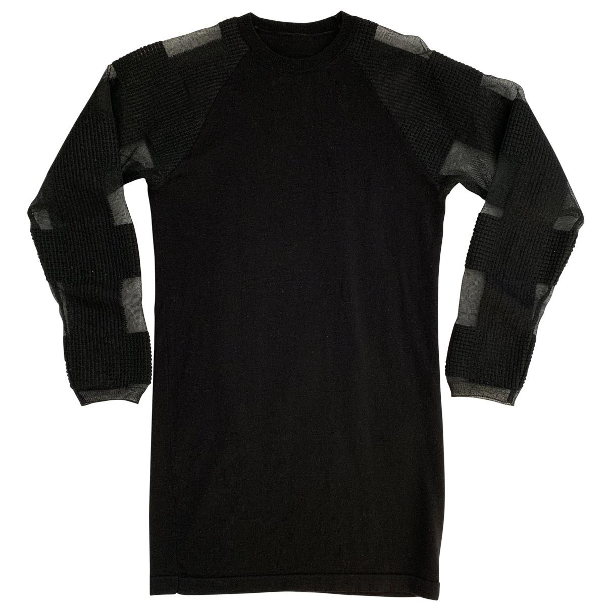 Mm6 \N Black Wool dress for Women XS International