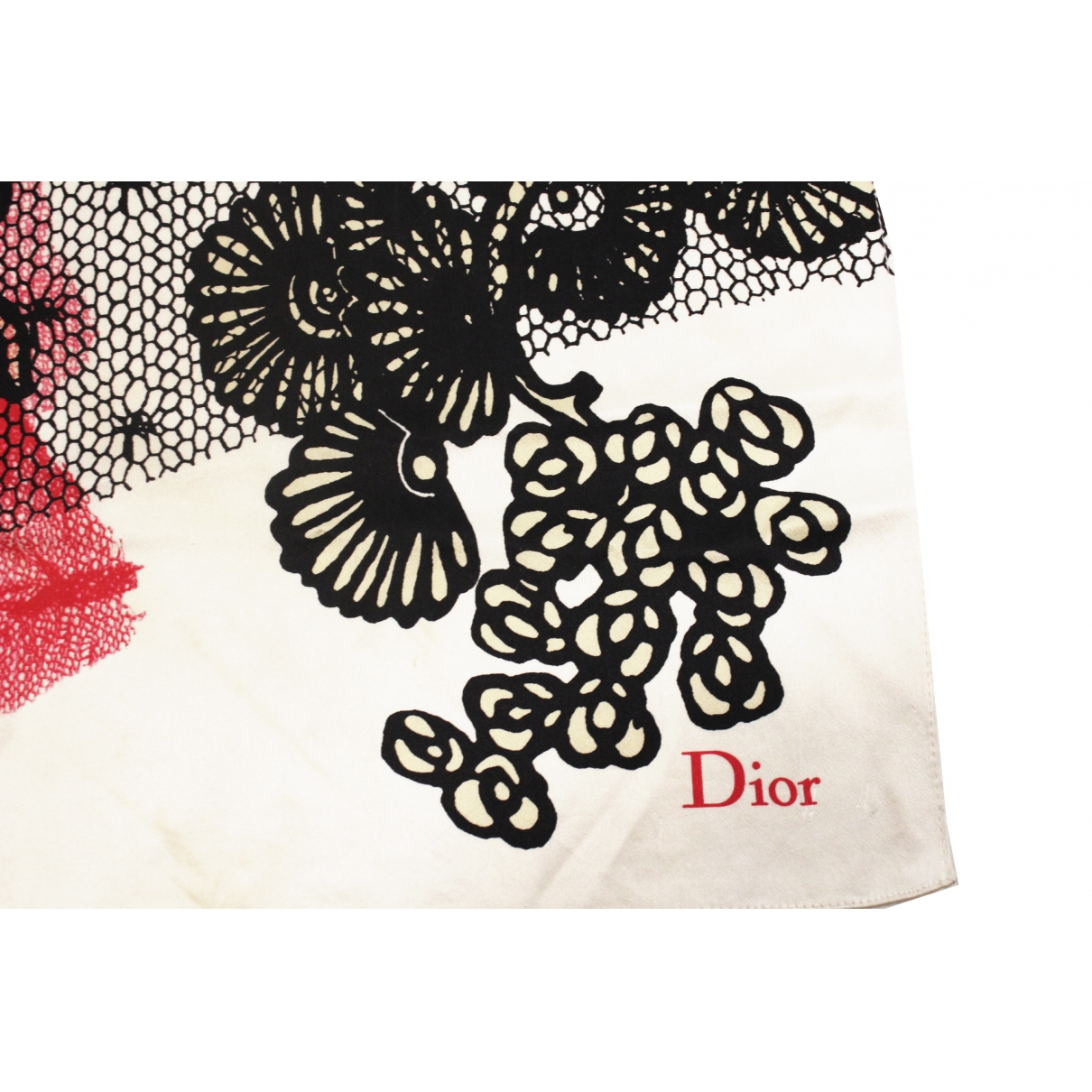 Dior \N White Silk scarf for Women \N