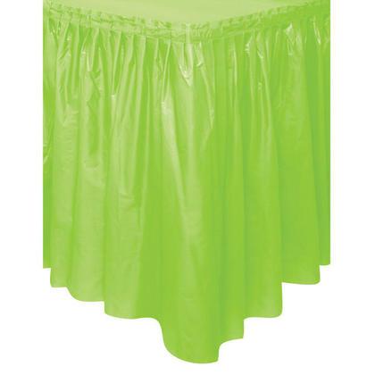 Jupe de Table en Plastique Solide Couleur Vert Citron 29