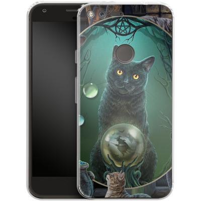 Google Pixel XL Silikon Handyhuelle - Magical Cats Montage von Lisa Parker