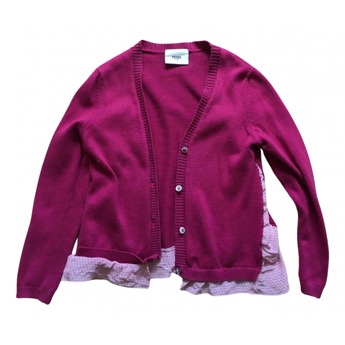 Fendi N Pink Cotton Knitwear for Kids 4 years - up to 102cm FR