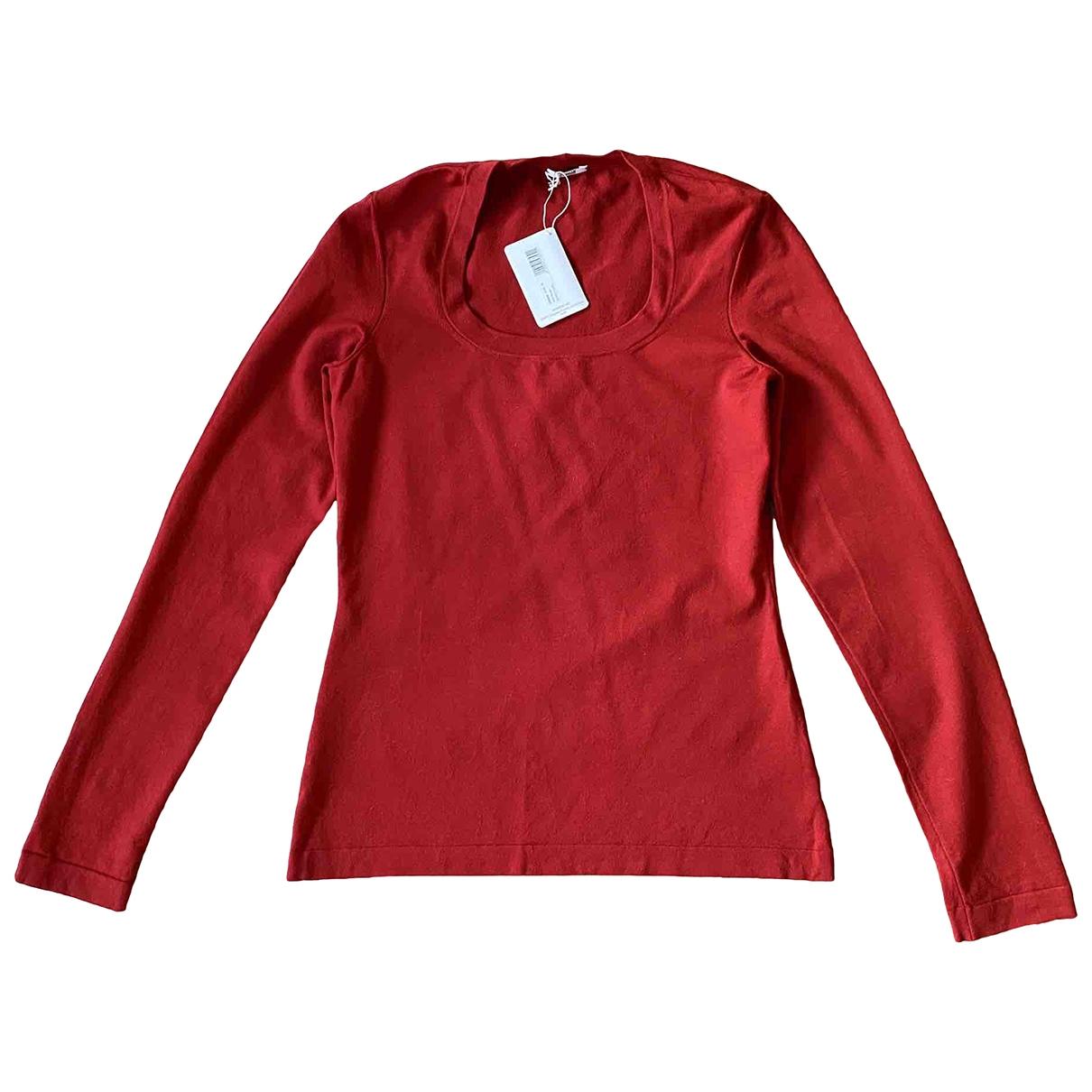 Wolford - Pull   pour femme en laine - rouge
