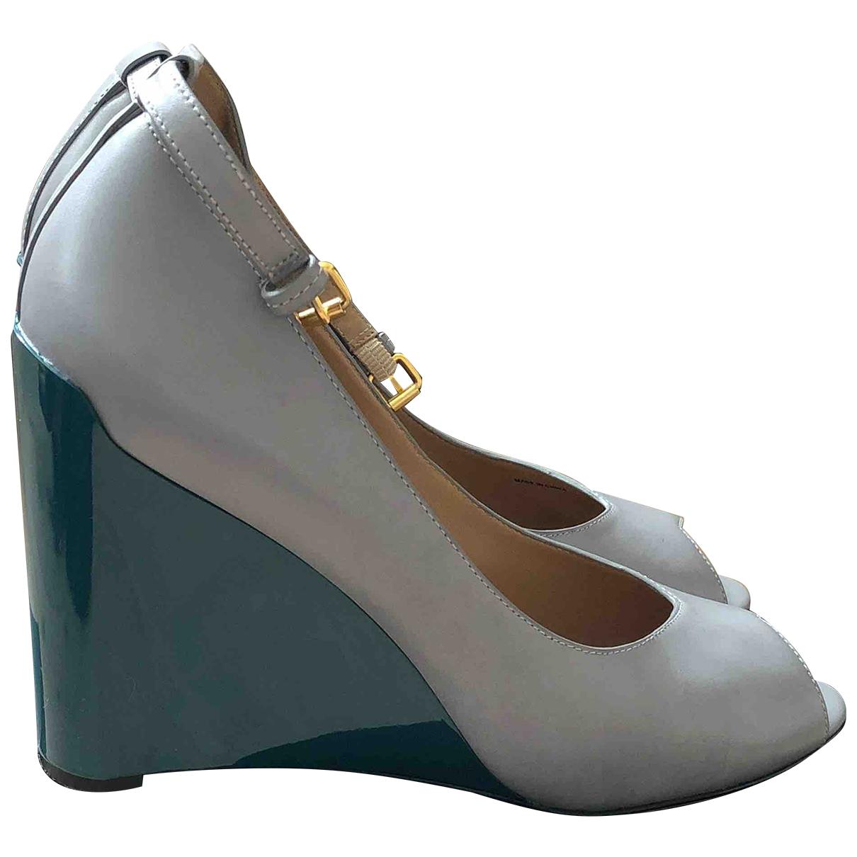 Marc Jacobs - Sandales   pour femme en cuir - turquoise
