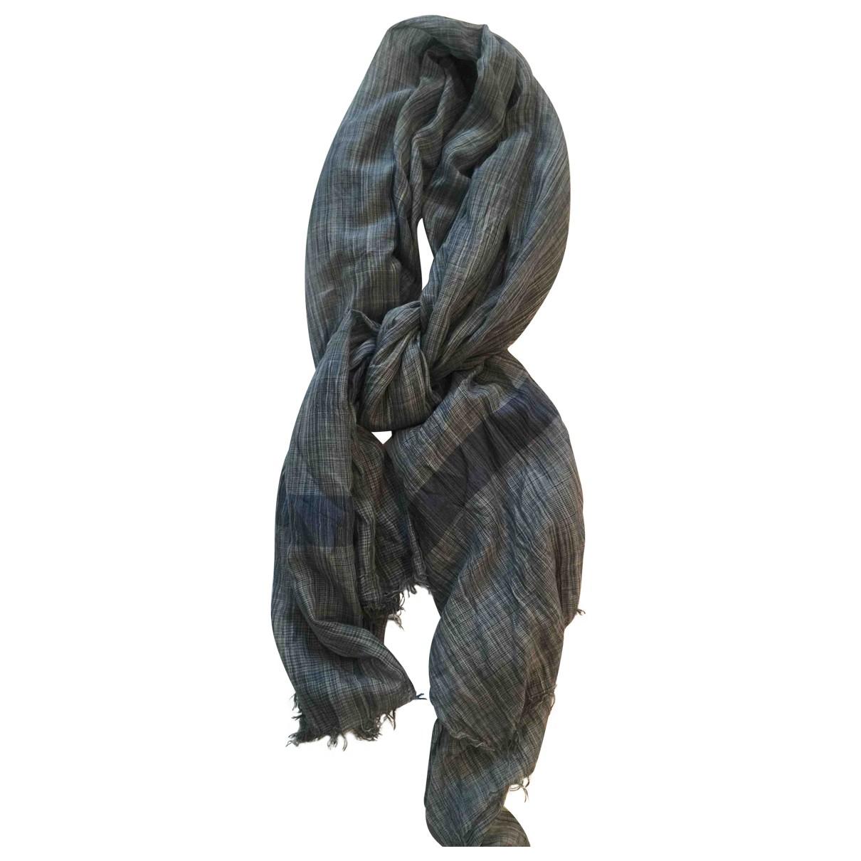 Faliero Sarti - Cheches.Echarpes   pour homme en coton - bleu