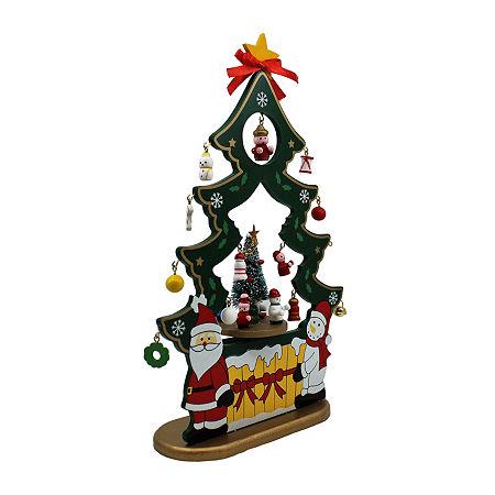Kurt Adler 11.5-Inch Musical Santa And Snowman Nativity Christmas Figurine, One Size , Multiple Colors