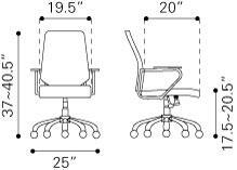 205167 Enterprise Low Back Office Chair