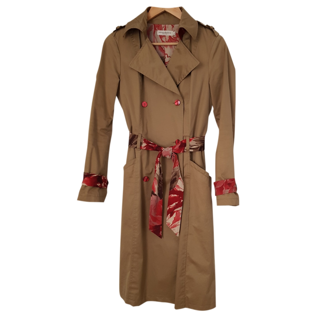 Non Signe / Unsigned \N Trench in  Khaki Baumwolle