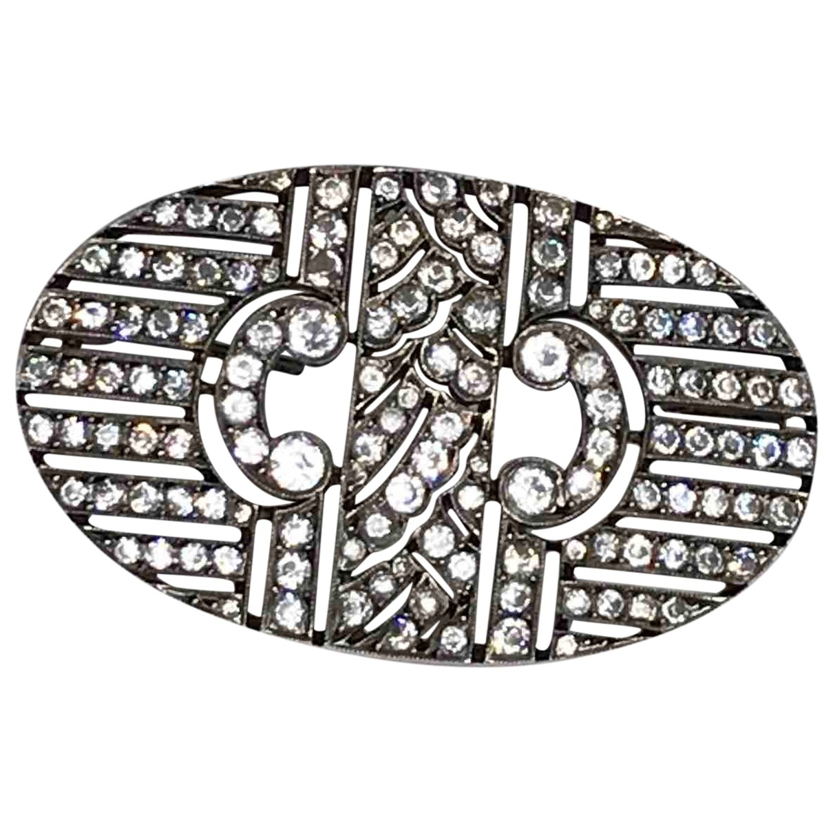 Non Signé / Unsigned Art Déco Silver Silver Pins & brooches for Women \N