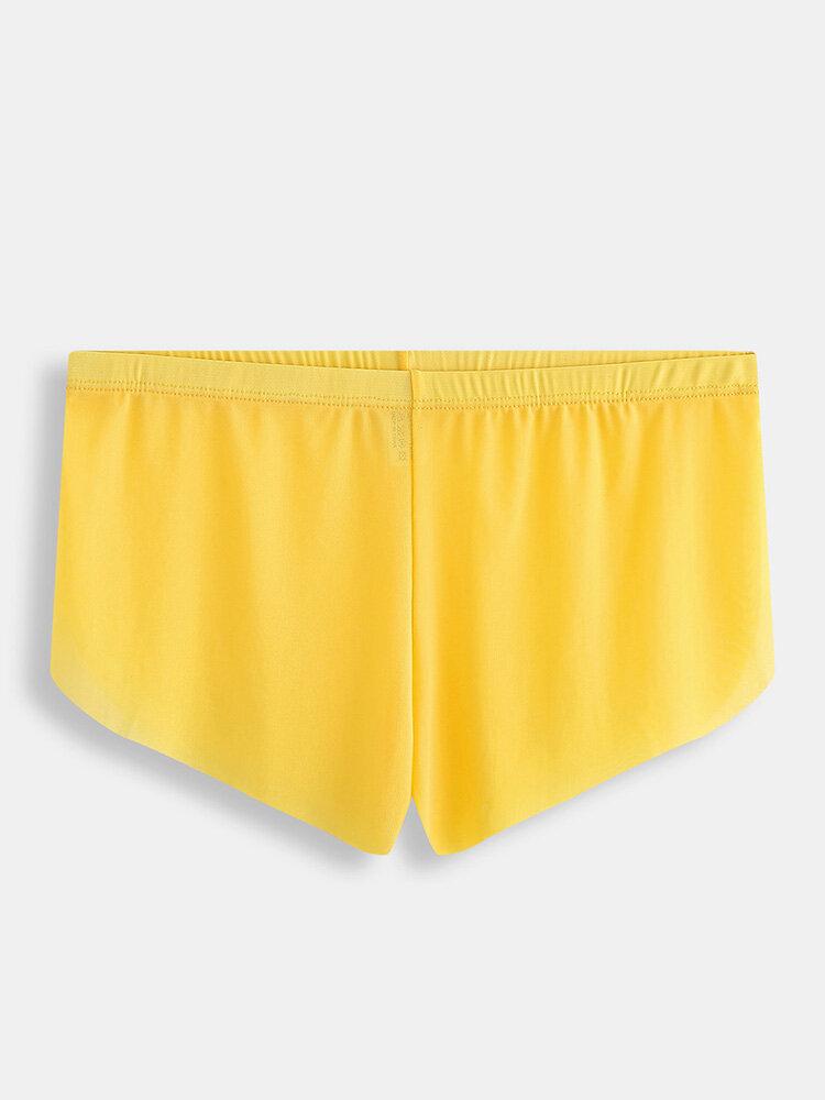 Men Net Sexy Transparent Boxer Briefs Thin Breathable Lightweight Plain Underwear