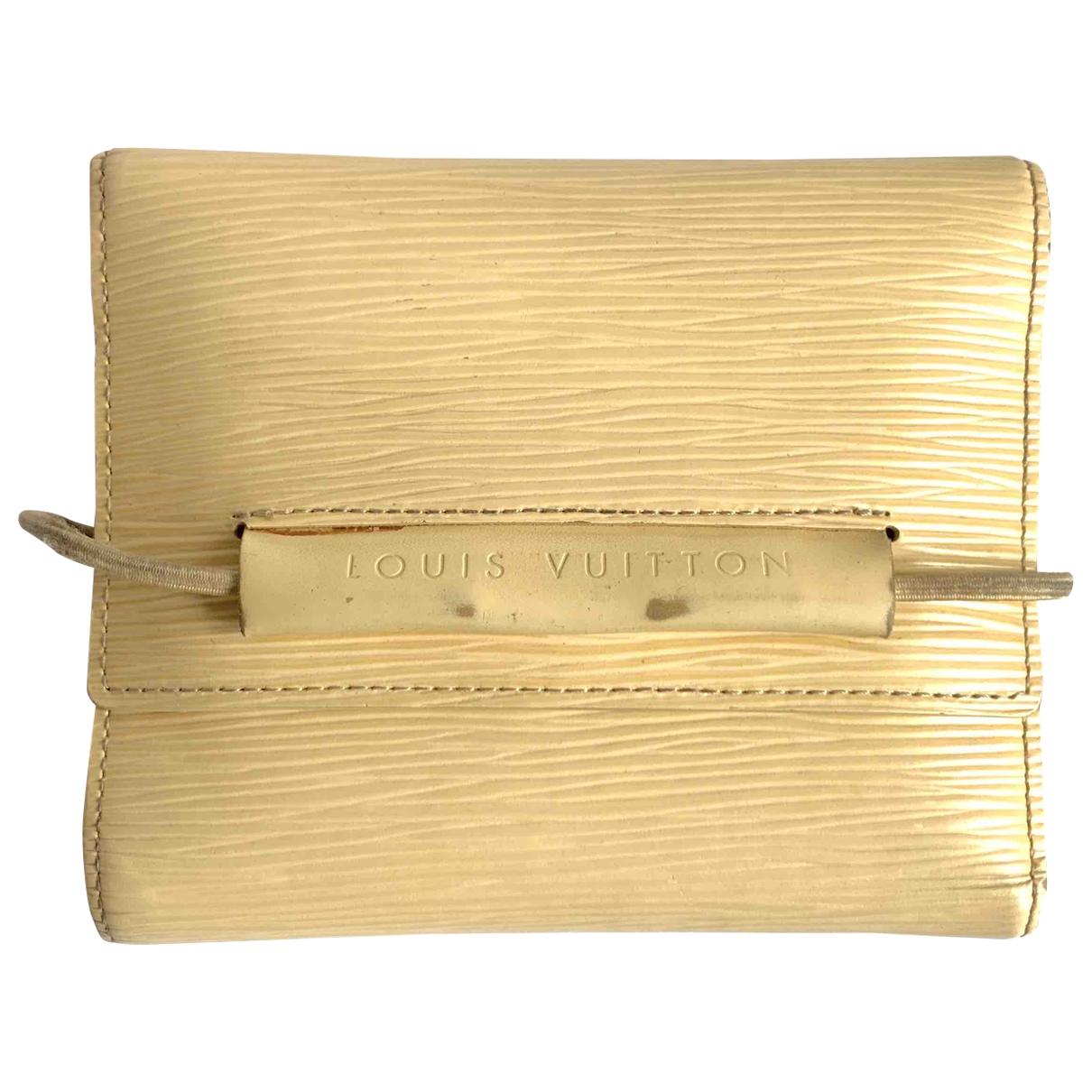 Louis Vuitton - Portefeuille   pour femme en cuir - beige