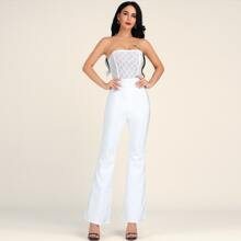 Lucra Zip Back Flare Leg Tube Jumpsuit