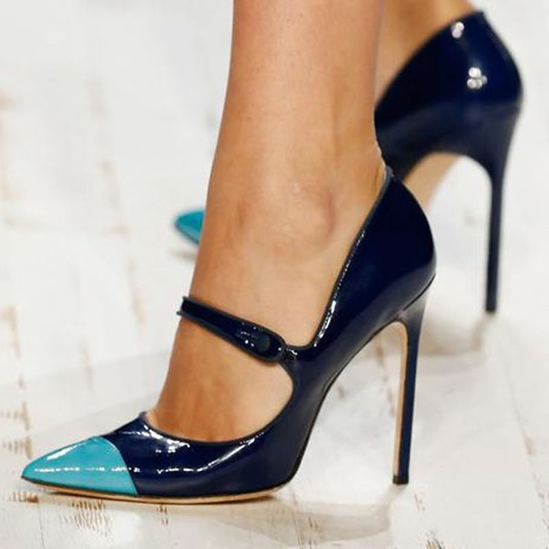 Ericdress Customized Buckle Pointed Toe Stiletto Heel Pumps