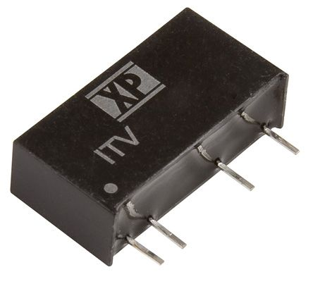 XP Power ITV 1W Isolated DC-DC Converter Through Hole, Voltage in 10.8 → 13.2 V dc, Voltage out ±12V dc