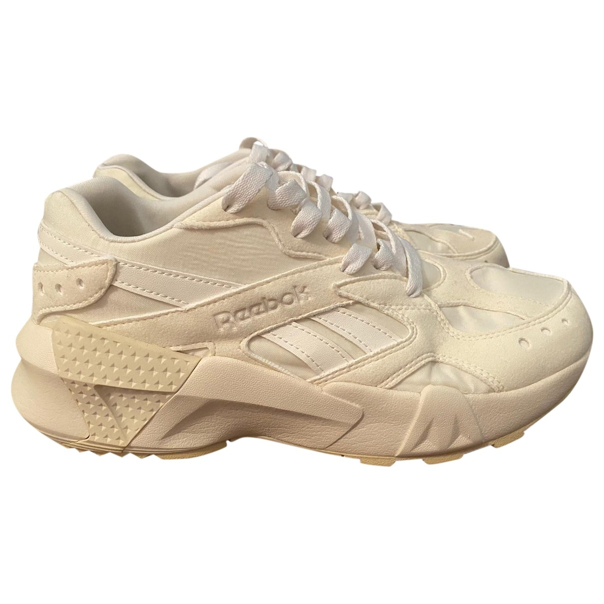 Reebok - Baskets   pour femme en toile - beige