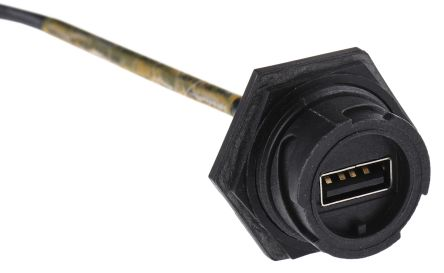 Molex Male USB A to Female USB A USB Extension Cable, 0.8m