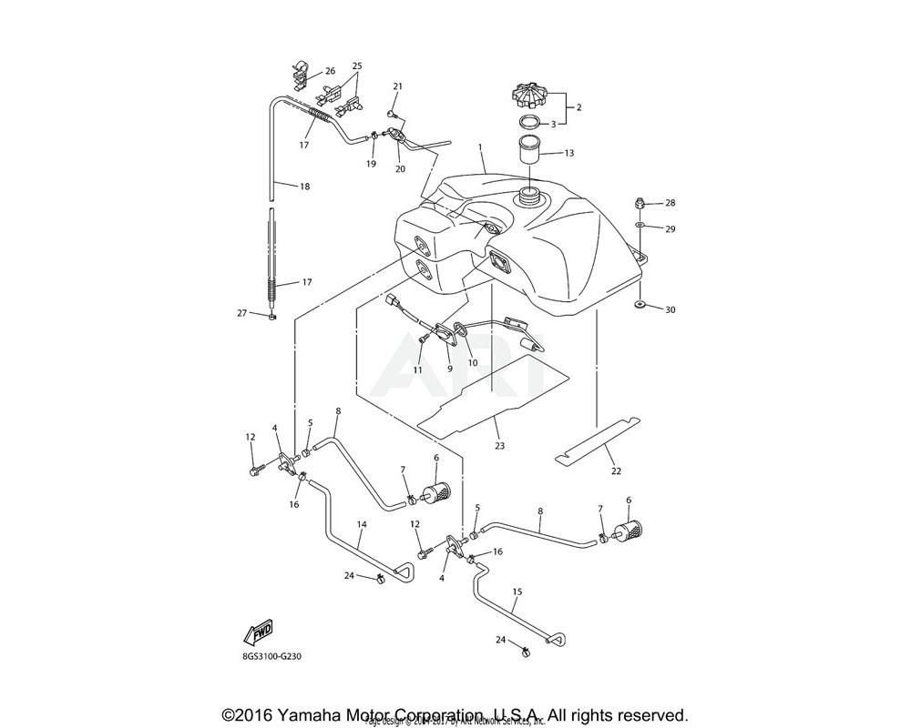 Yamaha OEM 8FN-2418A-00-00 BREATHER COMP.