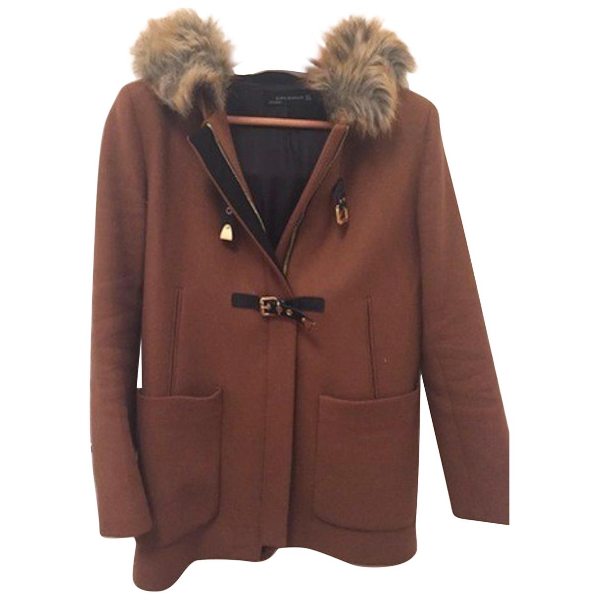 Zara \N Maentel in  Braun Wolle