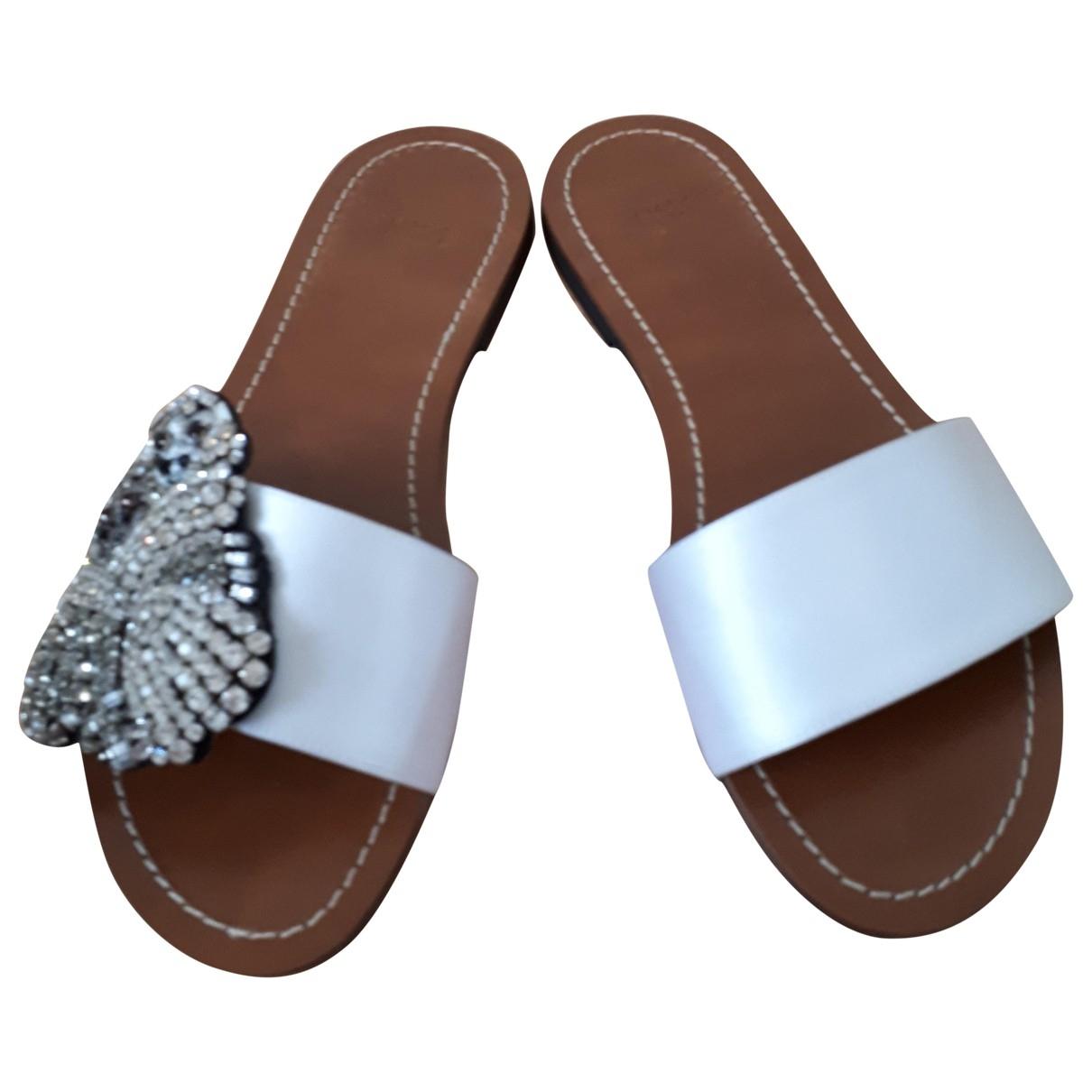 N°21 - Sandales   pour femme en toile - blanc