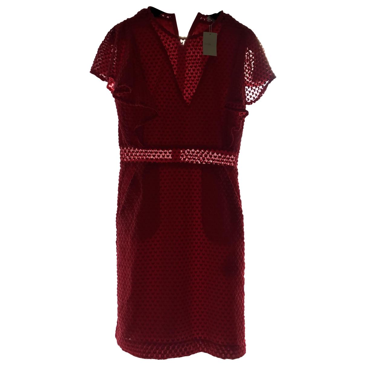 Maje - Robe   pour femme en coton - rouge