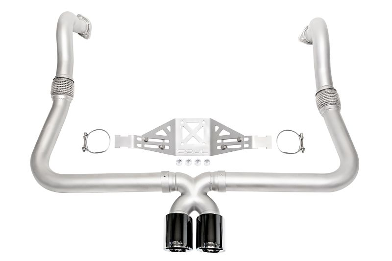 Soul Performance Performance Exhaust System Manual Trans Black Chrome Tips Porsche 718 Cayman   Boxster 17-19