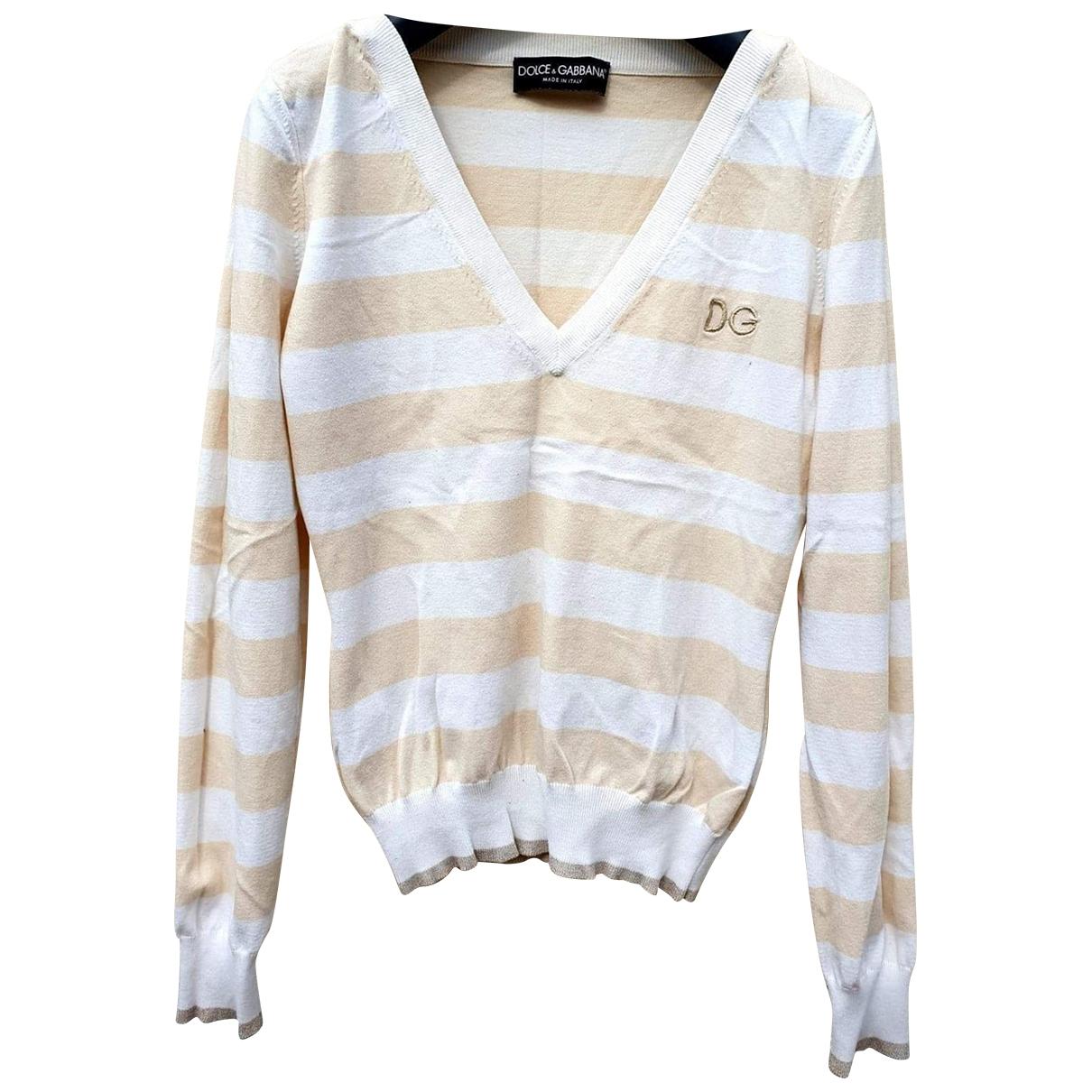 Dolce & Gabbana \N Beige Cotton Knitwear for Women 36 FR