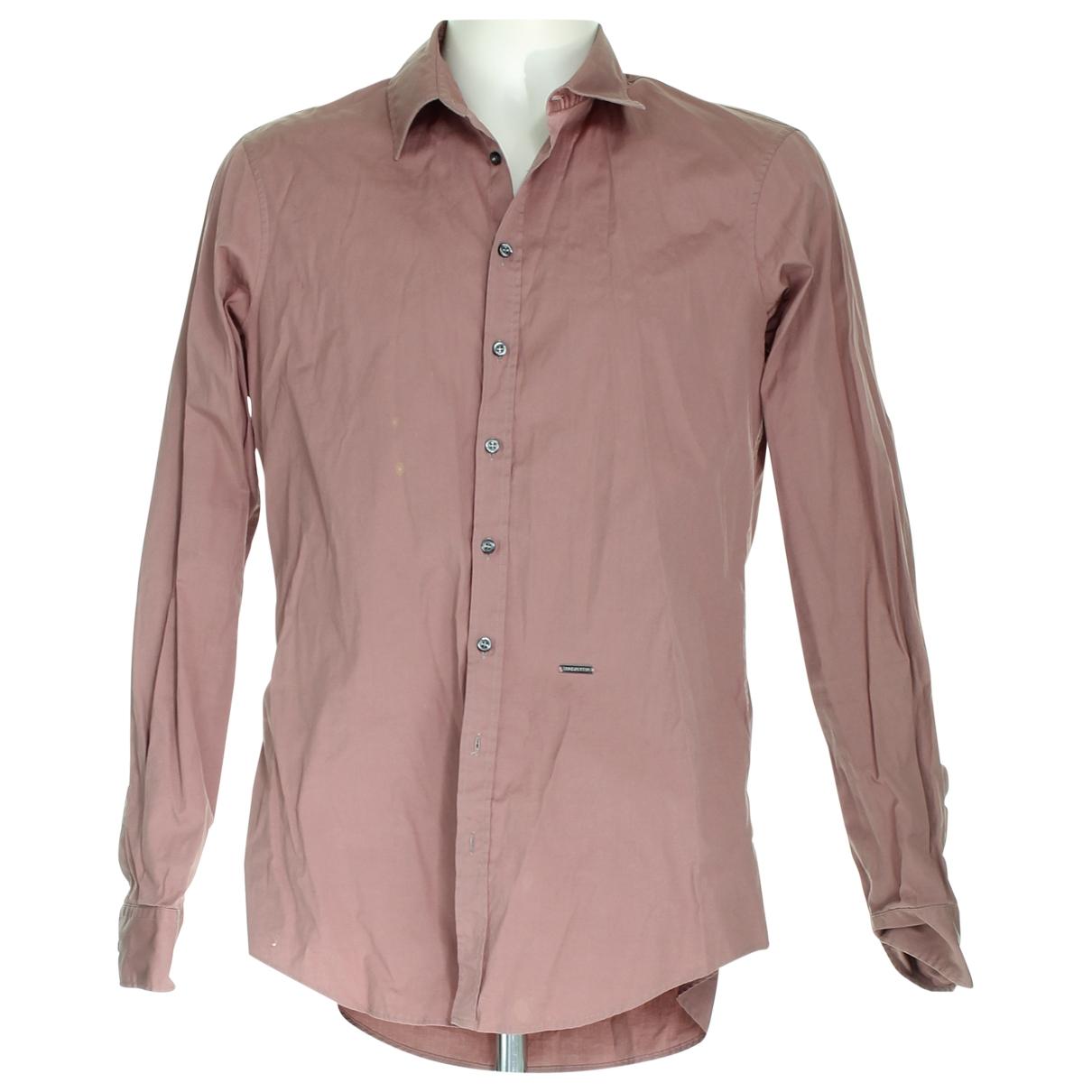Dsquared2 \N Hemden in  Bordeauxrot Baumwolle
