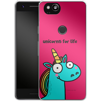 Google Pixel 2 Silikon Handyhuelle - Unicorns for Life von Flossy and Jim