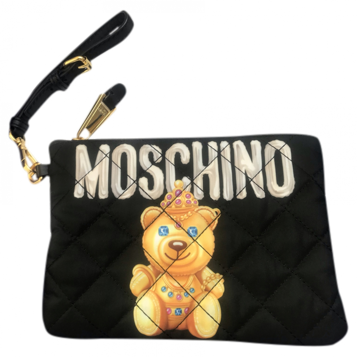Moschino \N Clutch in  Schwarz Leinen