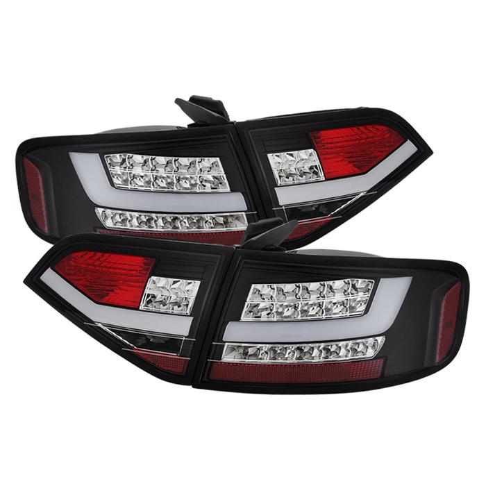 Spyder Auto ALT-YD-AA409-LED-BK Black LED Taillights Audi A4 4Dr with Incandescent Lights 09-12