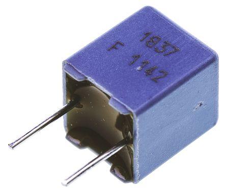 Vishay 68nF Polypropylene Capacitor PP 63 V ac, 100 V dc ±1% Tolerance Through Hole MKP 1837 Series (10)