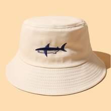 Sombrero cubo con bordado de tiburon