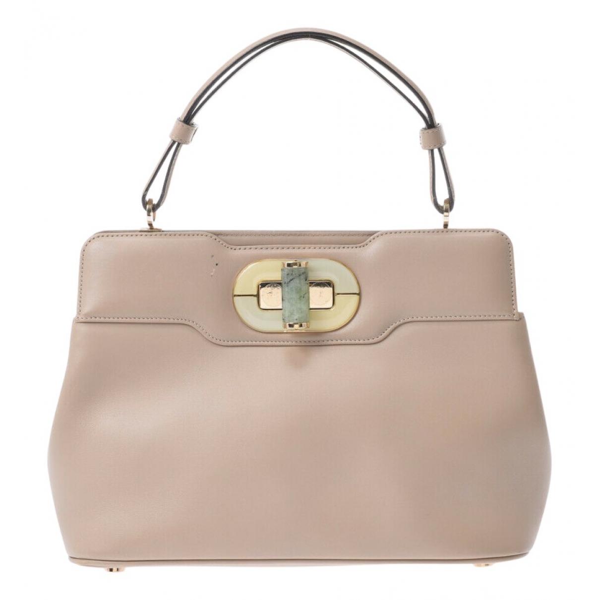 Bvlgari Rossellini Handtasche in  Beige Leder