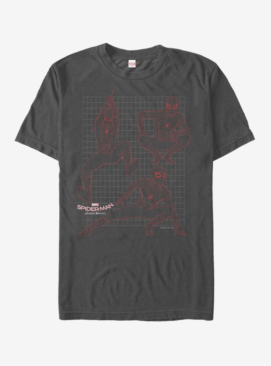 Marvel Spider-Man Homecoming Grid T-Shirt